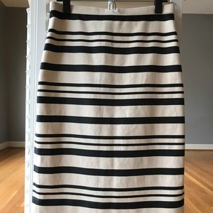 J. Crew Double Stripe Pencil Skirt